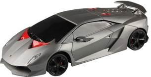 Cartronic 42951A RC Lamborghini Sesto Elemento in Silber, ferngesteuertes Modellauto im Maßstab 1:24, Funkreichweite 15 m, mit Licht, Handsender und feinjustierbarer Lenkung
