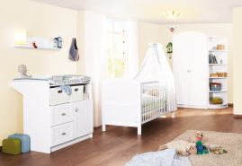 Pinolino 'Laura' 3-tlg. Babyzimmer-Set weiß, 2-türig
