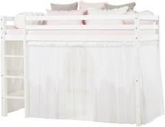 Hoppekids Wonderland Vorhänge mit tüll für Mittelhoches Bett, Baumwolle, Winter Wunderland, 90 x 200 cm