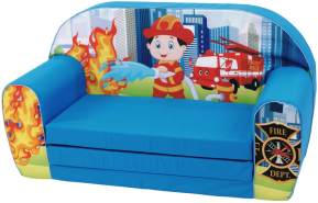 Knorrtoys 'Paul Firestation' Kindersofa blau