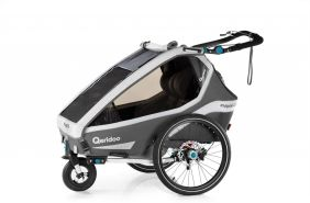 Qeridoo 'Kidgoo2 Sport' Fahrradanhänger Grau, 2020