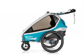 Qeridoo 'Kidgoo2 Sport' Fahrradanhänger Petrol, 2020