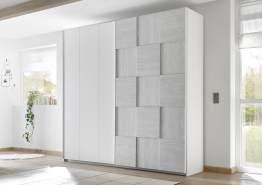 Kleiderschrank Schwebetüren Enjoy 3 179cm breit 4 Farben Grau