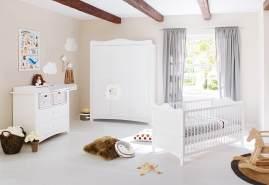 Pinolino 'Florentina' 3-tlg. Babyzimmer-Set weiß, breit, groß