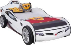 Cilek 'Coupe' Autobett weiß inkl. Matratze 90x190