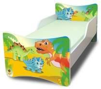 Best For Kids Kinderbett mit Schaummatratze 90x200 Dinosaur, grün