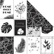 Design-Papier, Blatt 30,5x30,5 cm, 180 g, , Geometrie Blätter, 5Bl.