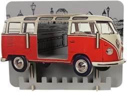 Werkhaus 'VW T1' Wandgarderobe rot