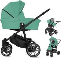 Minigo Beat | 3 in 1 Kombi Kinderwagen Luftreifen | Farbe: Turquoise