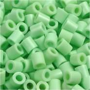 Bügelperlen, Größe 5x5 mm, Lochgröße 2,5 mm, Pastellgrün, Medium, 6000 Stück