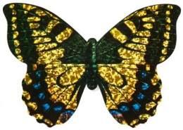 Minidrachen mit Seil Schmetterling 10 cm gelb