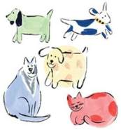 Wallies Wandaufkleber Motiv-Sticker (Cutouts) Jenny s Cats and Dogs