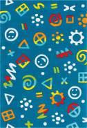Spirit Glowy 3146 Blau Icons 110x160 cm