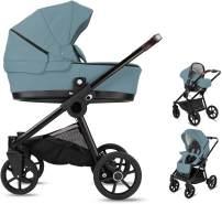 Minigo Groove | 3 in 1 Kombi Kinderwagen | Gelreifen | Farbe: Blue Grey