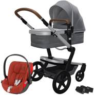 Joolz 'Day+' Kombikinderwagen Gorgeous Grey inkl. Cybex Cloud Z Plus Babyschale Autumn Gold