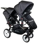 Babyfivestar Geschwisterwagen / Zwillingswagen Black Schwarzes Gestell
