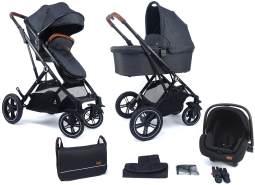 Pixini 'Lania' Kombikinderwagen 4plusin1 Urban black mit Tragewanne und Babyschale