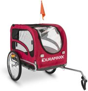 Duramaxx King Rex Fahrradanhänger Hundeanhänger Rot, 250l 40kg