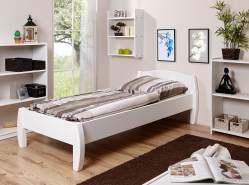 Ticaa 'Jasmin' Einzelbett 100 x 200 cm, Kiefer weiß