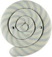 OYOY Zauberhaftes Strickkissen, Lollipop, in blau, 30 cm Durchmesser