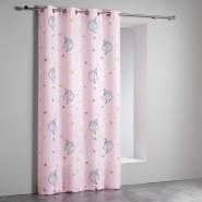 Ösenvorhang, 140 x 260 cm, Polyester, Lila/Rosa - Douceur d'intérieur