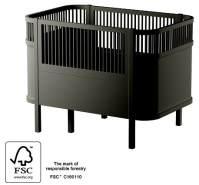 Sebra Kombi-Kinderbett schwarz