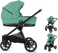 Minigo Groove | 3 in 1 Kombi Kinderwagen | Luftreifen | Farbe: Turquoise