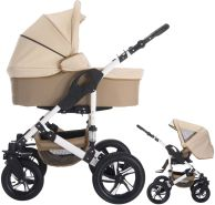 Bebebi Florida | 2 in 1 Kombi Kinderwagen | Luftreifen | Farbe: Flocream