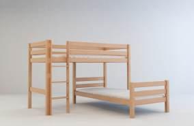 Mobi Furniture Etagenbett 90x200 inkl. Lattenrost natur
