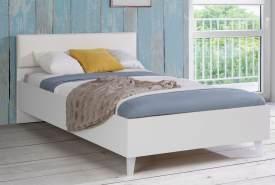 Forte Möbel 'YERODIN' Kinderbett 120x200cm, weiß, mit LED-Beinen