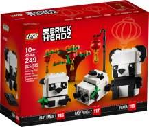 Lego BrickHeaadz 40466 'Pandas fürs chinesische Neujahrsfest', 249 Teile, ab 10 Jahren