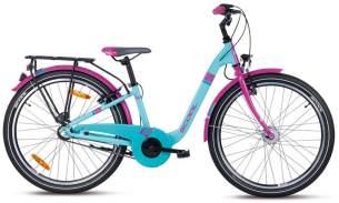 S'COOL Mädchenfahrrad chiX alloy blau-pink 24 Zoll