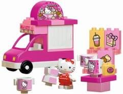 BIG-Bloxx Hello Kitty Eiswagen - Bausteinset mit 26 Teilen inkl. 1 Hello Kitty Spielfigur, verbaubar mit bekannten Spielsteinen für Kinder ab 1,5 Jahren