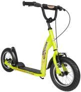 BIKESTAR 'Kinderroller Bikestar Premium 12 Zoll - Sport' Scooter, ab 6 Jahren, höhenverstellbar bis 90 cm, inkl. Handbremse, brilliant grün