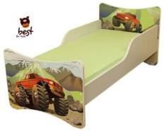 Best for Kids 'Auto' Kinderbett mit Schaummatratze 90x200 grün