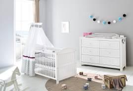Pinolino 'Nina' 2-tlg. Babyzimmer-Set weiß, extrabreit
