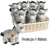 Teddy Hermann 90211 - Esel stehend - Kuscheltier, 19 cm