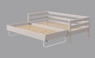 Flexa Classic Bett 90-10171 90-10172 mit Ausziehbett 90 x 200 cm   Grau lasiert