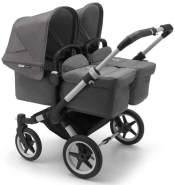 Bugaboo 'Donkey3 Twin' Zwillingskinderwagen 2020 Grau/Grau Meliert