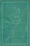 Böing Carpet 'Grimmliis' Kinderteppich grün, Stadtmusikanten, 110x170 cm