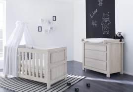 Pinolino 'Line' 2-tlg. Babyzimmer-Set grau