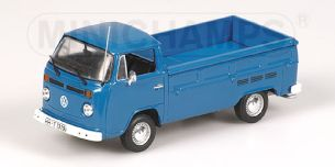 VOLKSWAGEN T2 SINGLE CABIN FLATBED - 1972 - blau