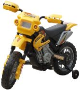 Kinder Motorrad 2 km/h Akku gelb
