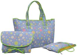 Belily World Spots 'n' Dots Wickeltasche Set, Shopper Bag