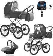 Bebebi Loving | 4 in 1 Kombi Kinderwagen | ISOFIX Set | Farbe: Grey Ardent