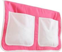 Ticaa Bett-Tasche für Hoch- und Etagenbetten - rosa-weiß
