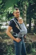 LIMAS Flex Babytrage Fullbuckle   56 – 104 cm   Bauchtrage & Rückentrage & Onbuhimo   ab 2. -3. Monate bis 3+ Jahre   Baby Carrier   Sky