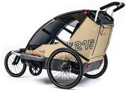 Leggero 'Vento R Sport' Fahrradanhänger Surf, 2-Sitzer inkl. Scheibenbremse, Jogger- & Buggyset