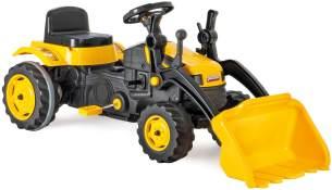 Pilsan Kindertraktor 07315 gelb, Pedale Schaufel, einstellbarer Sitz, ab 3 Jahre