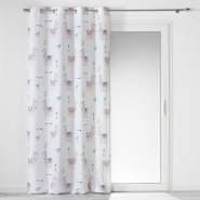 Ösenvorhang Happy Lama, Polyester, Bedruckt, 140 x 260 cm - Douceur d'intérieur